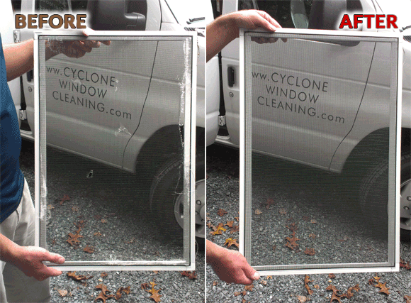 window and door screen repair by cyclone